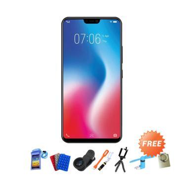Vivo V9 Smartphone - Gold + Free 10 Item