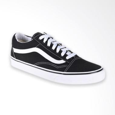 Terbaru. Vans U Old Skool Sneaker Pria - Black True White Ori. f781f45c93