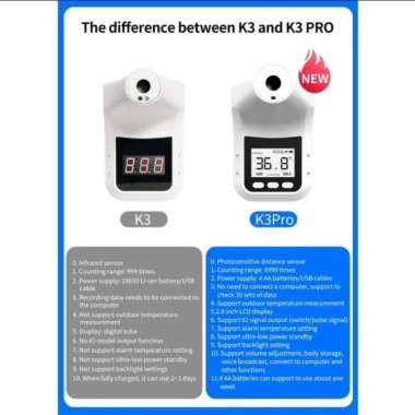 harga K3Pro Infrared Thermometer Automatic Support Outdoor Paket Tripod 2.1M Muticolor Blibli.com