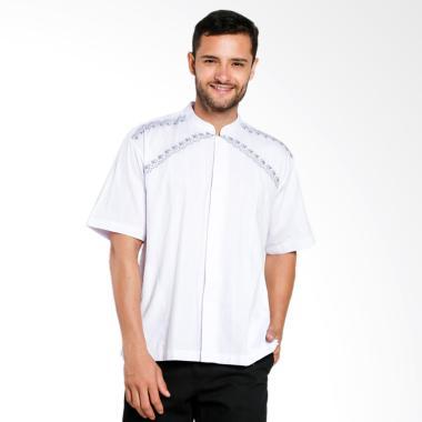 Aitana Bordir Baju Koko Pria - Putih [YN-11740-SS]