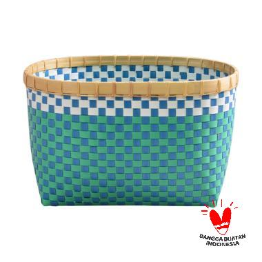 Nine Square Strappingband Basket [L]