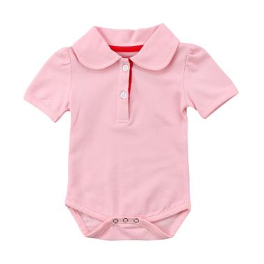 Abby Baby Polo Romper Anak - Pink