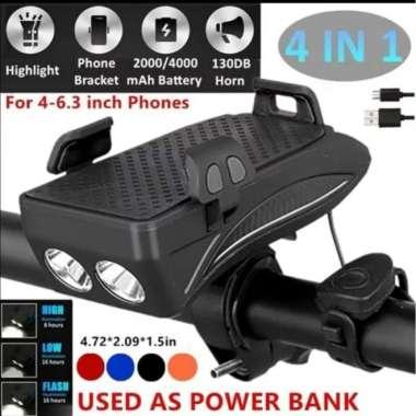 harga Promo BICYCLE 4 IN 1 POWERBANK  PHONE HOLDER  BELL  LAMPU SEPEDA CAS Murah Blibli.com
