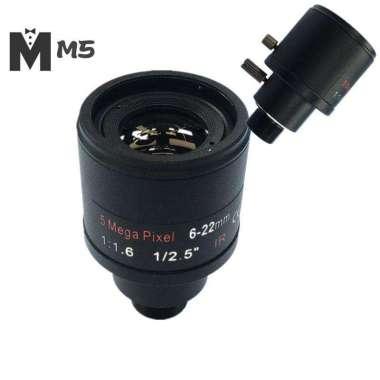 harga Lensa Cctv 1 - 2.5 Inch 6-22mm Varifocal Untuk Kamera 4mp - 5mp Ip - Ahd M5Id Blibli.com