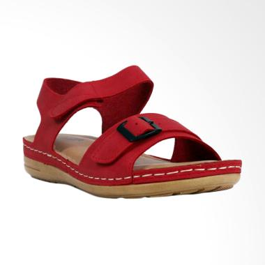 Bettina Bea Sandal Flat Wanita - Red