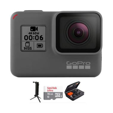 GoPro Hero 6 Combo 3 Way Deluxe Action Cam - Black [16 GB]