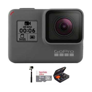 GoPro Hero 6 Combo Deluxe 16 GB Action Camera - Black