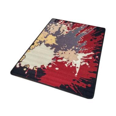 Tren-D-rugs JM09BK Gel Printed Modern Karpet [140 x 200 cm]