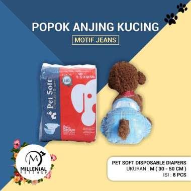 harga Popok Pampers Anjing Kucing Pet Soft Disposable Diapers Satuan M 30 - 50 cm (6 - 11 kg) Biru Blibli.com