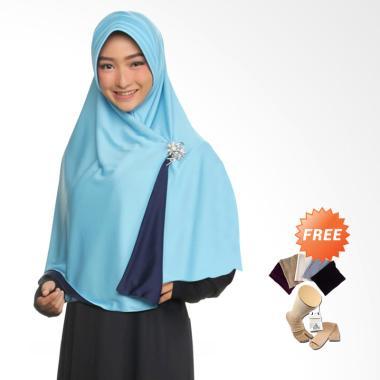 Zannah Hijab Syari Bolak Balik Jumbo Jilbab Instan - Mint