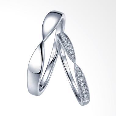 Tiaria Harmonious Line Ring Perhiasan Emas Cincin [18K]
