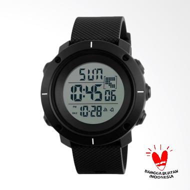 Skmei LED Jam Tangan Pria - Black [1213 DG1213/Original]