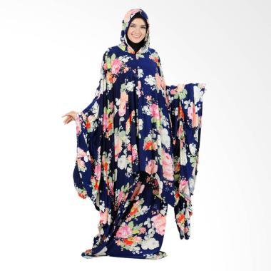 Boontie Arabela Alzeena Kalong Motif Bunga Mukena - Navy Flower Print
