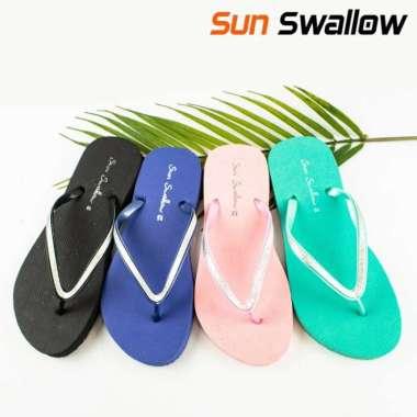 harga Jual Sandal japit wanita sun swallow crystal  sendal jepit cewek terkini - Hijau 10 Murah Blibli.com