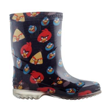 AP BOOTS Burung Angry Bird Sepatu Boots Anak Unisex - Hitam