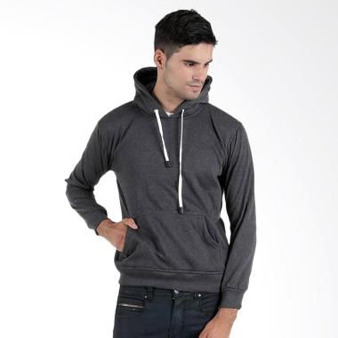 DEcTionS Sweater Jumper Hoodie Distro Jaket Polos Pria - Abu Tua