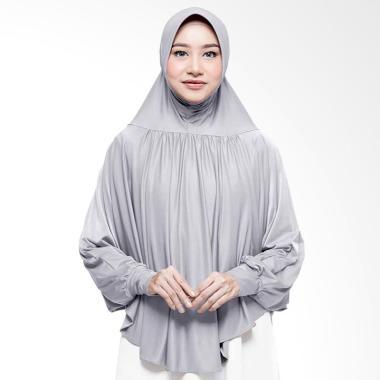Cotton Bee Azalia Bergo Lengan Jilbab Instant - Light Grey