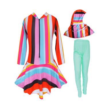 Rainy Collections Motif Pelangi Ver ... slim - Rainbow Hijau Muda
