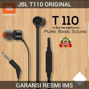 harga FREE ONGKIR HEADSET JBL T110 HEADPHONE - EARPHONE WITH MICROPHONE ORIGINAL - Hitam Blibli.com