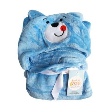 Carter's Momo Blanket Hodie Topi Karakter Selimut Bayi - Biru