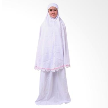 Batik Distro BA9182 Mukena Renda - Putih [2 Piece]