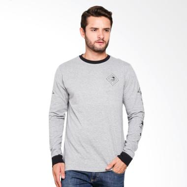 Hurley Palm Reader Long Sleeve T-Shirt Pria - Grey [063]