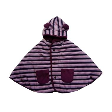 Cuddle Me Stripe Baby Cape Jaket Bolak-Balik - Purple