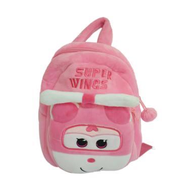 Super Wings 0930010608 Bludru Tas Ransel Anak