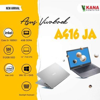 harga ASUS A416JA-VIPS351/VIPS352 Notebook [i3-1005G1/ 4GB/ 512GB SSD/ UMA/ 14 Inch VIPS FHD/ Backlite/ Win10/ Office Home Student] TRANSPARANT SILVER Blibli.com