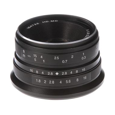 7artisans 25mm F1.8 Lensa Kamera for Mirrorless Canon EOS-M