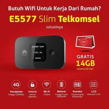 harga Huawei Modem Mifi E5577 slim + telkomsel 14gb unlock all operator hitam Blibli.com