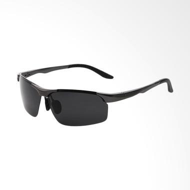 TWD Polarized Magnesium Sunglasses Kacamata Unisex - Black