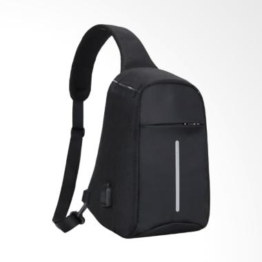 OEM Smart Sling Bag Pria with USB Charging Port [TR002]