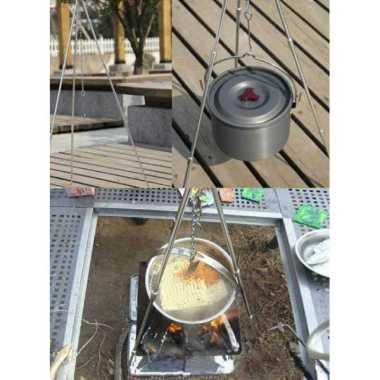 harga Tripod Lipat /Gantungan Hanger Cooking Set Nesting Stainless YG-ZJ001 Blibli.com
