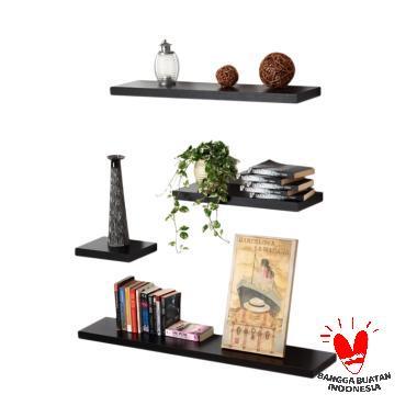 SGB Minimalis Floating Shelves Set Rak Dinding