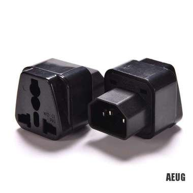 harga NO ONGKIR 【HY】Pro IEC 320 PDU UPS C14 Plug To Universal Female Socket Power Adapter Converter Blibli.com