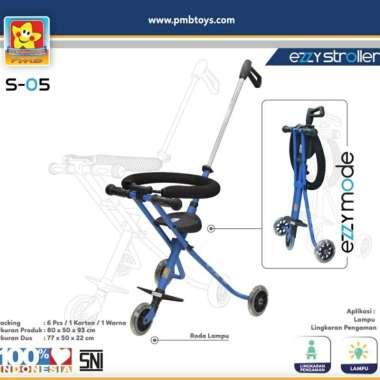 harga Stroller Bayi Balita Kereta Dorong Anak Ezzy S-05 PMB Toys Portable Blue Blibli.com