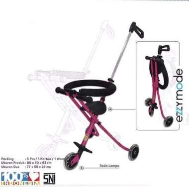 harga Stroller Bayi Balita Kereta Dorong Anak Ezzy S-05 PMB Toys Portable Pink Blibli.com