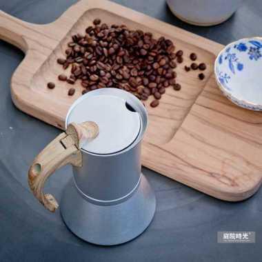harga VRS Teko Pembuat Kopi Espresso Coffee Maker Stovetop Filter 300ml - T0013 Silver Blibli.com