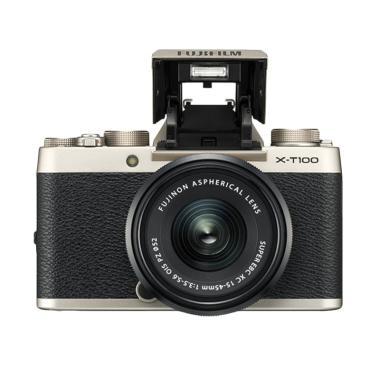 Fujifilm XT 100 Kamera Mirrorless with Lens 15-45 - Gold