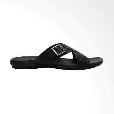Gino Mariani Donato Exclusive Cow Leather Sandal Pria - Black