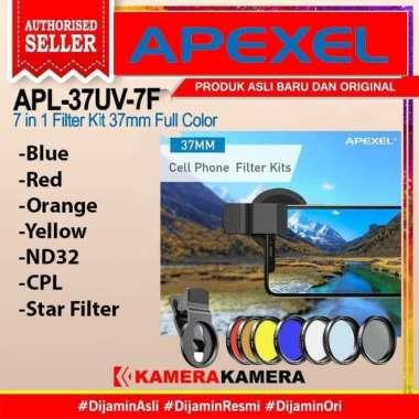 harga FILTER Apexel APL-37UV-7F 7 in 1 Filter Kit 37mm Full Colour Hitam Blibli.com