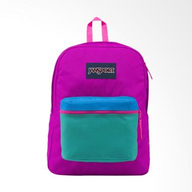 Jansport LBJEX3C4X4C0 Backpack Tas  ... ed Neon Purple Ultra Pink