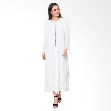 Heart and Feel Muslim 3081.D1 Long Dress Wanita - Putih