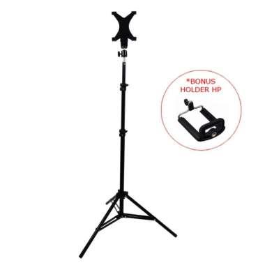 harga Stand Tripod Besi Tablet HP Holder Stand Kamera ST-15 HU-500 SM-710 Hitam Blibli.com