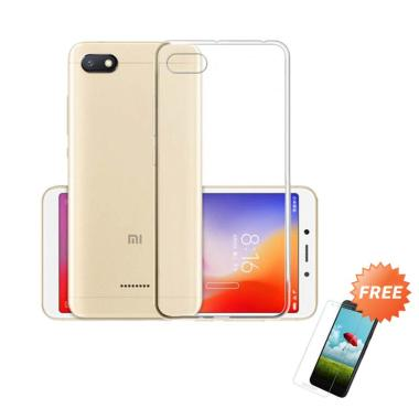OEM Ultra Thin Softcase Casing for Xiaomi Redmi 6A - Clear + Gratis Tempered Glass