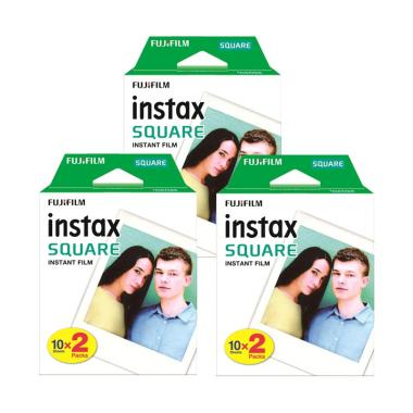 Fujifilm Instax Square Twinpack Instan Film [3 packs x 20 sheets]
