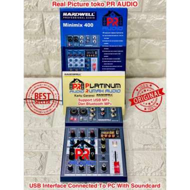 harga Mixer Audio HARDWELL Minimix 4 ORIGINAL Recording To PC With Soundcard MULTICOLOUR Blibli.com