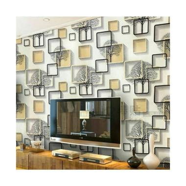 Wallpaper Premium PVC Motif Nature Wallpaper Sticker Dinding [Size 45cm x 10M]