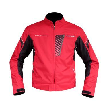 Respiro Velocity R3 Jaket Motor Pria - Red Black